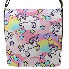 Unicorn Rainbow Flap Messenger Bag (S)