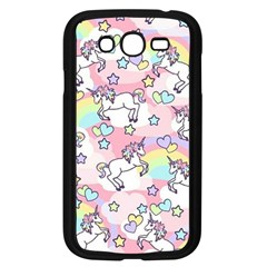 Unicorn Rainbow Samsung Galaxy Grand Duos I9082 Case (black)
