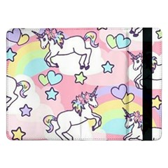 Unicorn Rainbow Samsung Galaxy Tab Pro 12 2  Flip Case