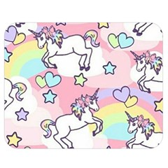 Unicorn Rainbow Double Sided Flano Blanket (Medium)