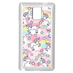 Unicorn Rainbow Samsung Galaxy Note 4 Case (white)