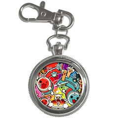Cute Doodles Wallpaper Background Key Chain Watches