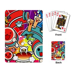 Cute Doodles Wallpaper Background Playing Card