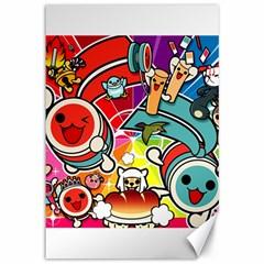 Cute Doodles Wallpaper Background Canvas 12  x 18