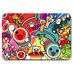 Cute Doodles Wallpaper Background Large Doormat