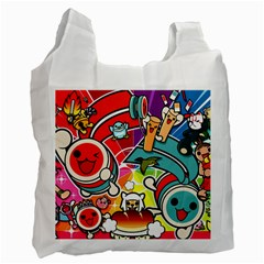 Cute Doodles Wallpaper Background Recycle Bag (one Side)