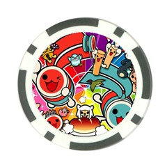 Cute Doodles Wallpaper Background Poker Chip Card Guard (10 pack)