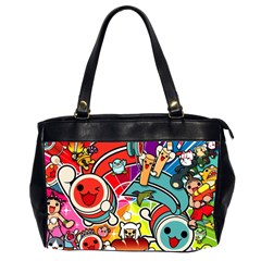 Cute Doodles Wallpaper Background Office Handbags (2 Sides)