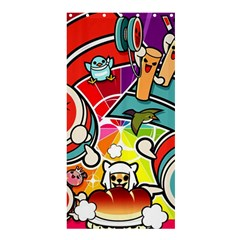 Cute Doodles Wallpaper Background Shower Curtain 36  x 72  (Stall)