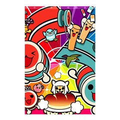 Cute Doodles Wallpaper Background Shower Curtain 48  X 72  (small)