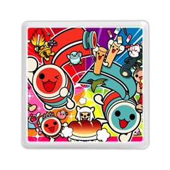 Cute Doodles Wallpaper Background Memory Card Reader (Square)