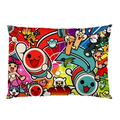 Cute Doodles Wallpaper Background Pillow Case (Two Sides)