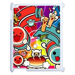 Cute Doodles Wallpaper Background Apple iPad 2 Case (White)