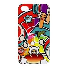 Cute Doodles Wallpaper Background Apple iPhone 4/4S Hardshell Case