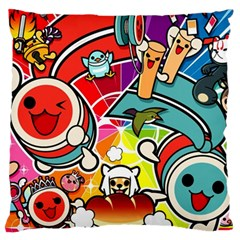 Cute Doodles Wallpaper Background Large Cushion Case (one Side)