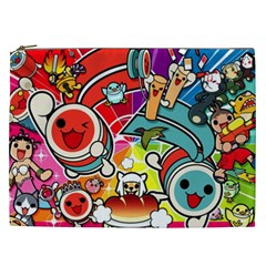 Cute Doodles Wallpaper Background Cosmetic Bag (XXL)