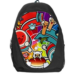 Cute Doodles Wallpaper Background Backpack Bag