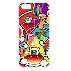 Cute Doodles Wallpaper Background Apple Iphone 5 Seamless Case (white)