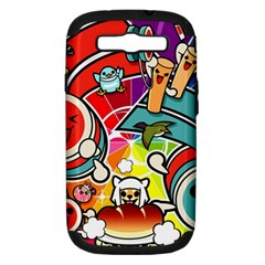 Cute Doodles Wallpaper Background Samsung Galaxy S Iii Hardshell Case (pc+silicone)