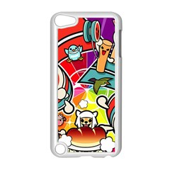 Cute Doodles Wallpaper Background Apple Ipod Touch 5 Case (white)