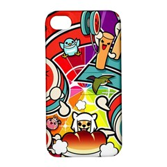Cute Doodles Wallpaper Background Apple iPhone 4/4S Hardshell Case with Stand