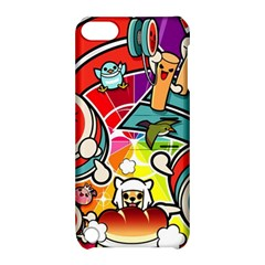 Cute Doodles Wallpaper Background Apple Ipod Touch 5 Hardshell Case With Stand