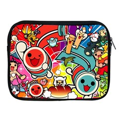 Cute Doodles Wallpaper Background Apple Ipad 2/3/4 Zipper Cases
