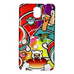 Cute Doodles Wallpaper Background Samsung Galaxy Note 3 N9005 Hardshell Case