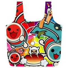 Cute Doodles Wallpaper Background Full Print Recycle Bags (L)