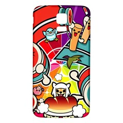 Cute Doodles Wallpaper Background Samsung Galaxy S5 Back Case (white)