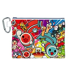 Cute Doodles Wallpaper Background Canvas Cosmetic Bag (l)