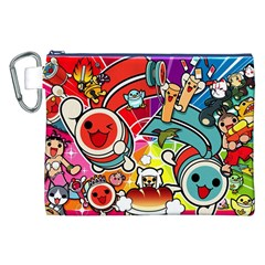 Cute Doodles Wallpaper Background Canvas Cosmetic Bag (xxl)