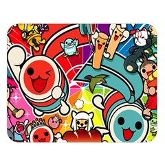 Cute Doodles Wallpaper Background Double Sided Flano Blanket (Large)