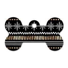Kawaii Pattern Dog Tag Bone (One Side)