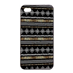 Kawaii Pattern Apple iPhone 4/4s Seamless Case (Black)