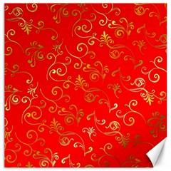Golden Swrils Pattern Background Canvas 20  x 20