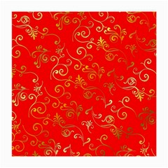 Golden Swrils Pattern Background Medium Glasses Cloth (2 Side)