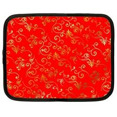Golden Swrils Pattern Background Netbook Case (large)