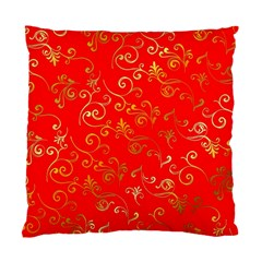 Golden Swrils Pattern Background Standard Cushion Case (two Sides)