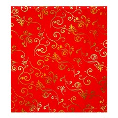 Golden Swrils Pattern Background Shower Curtain 66  X 72  (large)