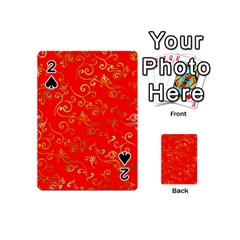 Golden Swrils Pattern Background Playing Cards 54 (Mini)