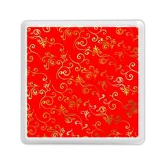 Golden Swrils Pattern Background Memory Card Reader (Square)
