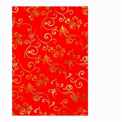Golden Swrils Pattern Background Small Garden Flag (two Sides)