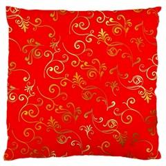Golden Swrils Pattern Background Large Cushion Case (two Sides)