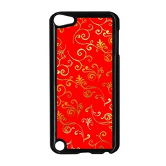 Golden Swrils Pattern Background Apple Ipod Touch 5 Case (black)
