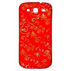 Golden Swrils Pattern Background Samsung Galaxy S3 S Iii Classic Hardshell Back Case
