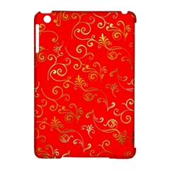 Golden Swrils Pattern Background Apple iPad Mini Hardshell Case (Compatible with Smart Cover)