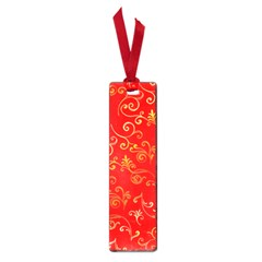 Golden Swrils Pattern Background Small Book Marks