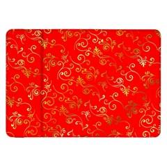 Golden Swrils Pattern Background Samsung Galaxy Tab 8.9  P7300 Flip Case