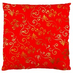 Golden Swrils Pattern Background Standard Flano Cushion Case (two Sides)